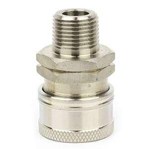 Interstate Pneumatics PW7147 Pressure Washer 3/8 inch MNPT Stainless Steel Coupler 5200 PSI by Interstate Pneumatics