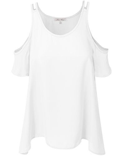 Dressy Thin Solid Open Cold Shoulder Short Sleeve Tops (Crop Top Open Front)