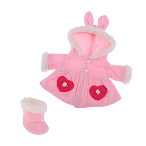 - B Blesiya Lovely Clothes Suit for Mellchan Baby Doll or 9-11inch Doll Rabbit Ears Hat Jacket Coat Snow Boots