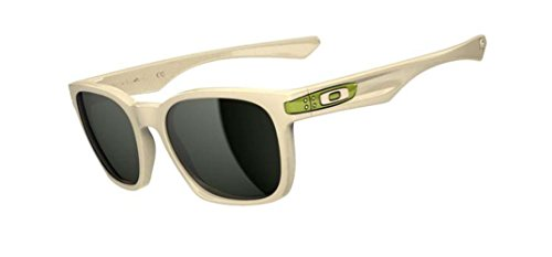 Oakley Garage Rock Sunglasses, Matte Bone Frames with Dark Grey Lenses. - Ten Sunglasses Oakley