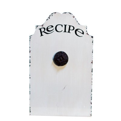 Metal Recipe Holder Magnetic Wall Mounted Bulletin Board,...