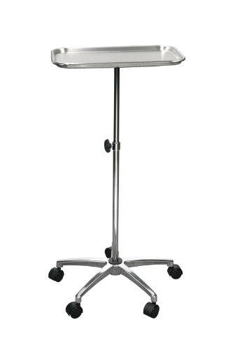 Drive Medical Mayo Instrument Stand With Mobile 5 Caster Base Chrome