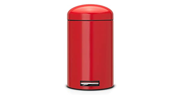 Amazon.com: Brabantia 483783 Retro cubo de basura, 12-liter ...