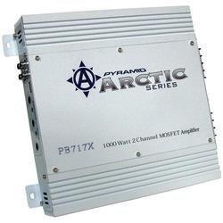 """PYRAMID PB717X Ai Seies 2-Chae MOSFET Amp (1,000W max; 50W x 2 @ 4_; Dim 9.84""""D)"""