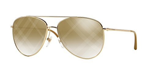Burberrys BE3072 1017B3 Gold BE3072 Aviator Sunglasses Le...
