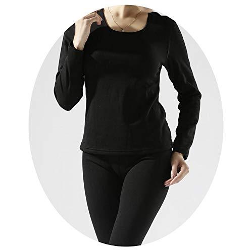 Thermal Underwear Mens Long Johns Men Autumn Winter Shirt+Pants 2 Piece Set Warm Thick Plus Velvet Size M-XXXL,Black2 Women,XL (Womens Pants Polypro)