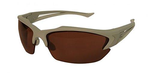 Edge Eyewear TSG735 Acid Gambit - Soft-Touch Matte Desert Sand Frame/Polarized Copper Lenses by Edge Eyewear