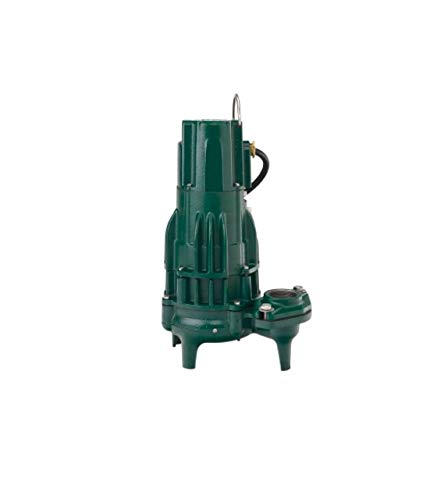 Zoeller 295-0004 230-Volt 2 Horse Power Model E295 High Head Waste Mate Non-Automatic Cast Iron Single Phase Submersible Sewage/Effluent Pump ()