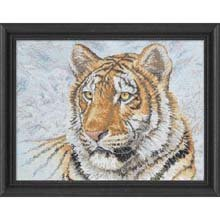 Bucilla Heirloom Collection Counted Cross Stitch Kit, 12 by 16-Inch, 45432 Siberian Tiger