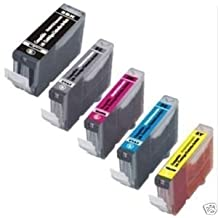 Five New Compatible print cartridge (Cannon PGI22O BK, CLi22l BK/C/M/Y) (1 Big Black PGI-22O, 1 samll Black CLl-22lbk, 1 Cyan CLl-22lC, 1 Magenta CLl-22lM, 1 Yellow CLl-22lY) used for Cannon PIXMA iP-3600/4600/4700 MP-560/620/620B/640 MX-860/870 all-in-one AIO multifunction inkjet copy/fax/scanner/printer/copier machine by Photosharp Ink Jet & Toner