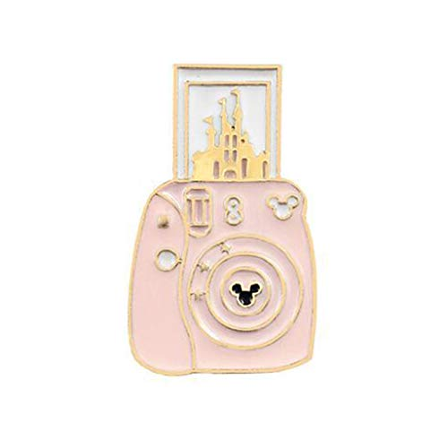 EAPTSCartoon Cute Camera Castle Shape Alloy Brooch Lightweight Clothes Pin Badge Enamel Lapel Dresses Hat Scarf Decor Accessory