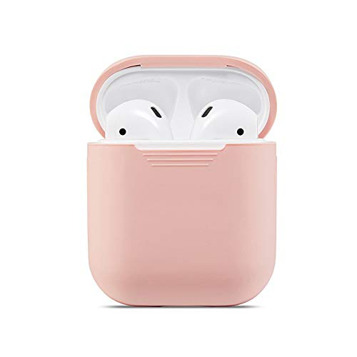 (AirPods Protective Case, Premium Silicone Case Full Protective Cover Skin Compatible with Apple AirPods Airpods Case Pink - for AirPods 1 & 2(Pink))