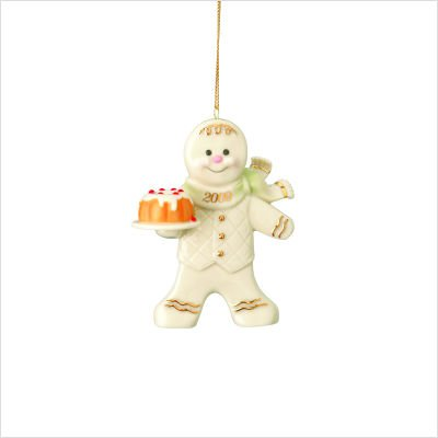 - Lenox 2009 Annual Gingerbread Man Ornament Holiday Spice