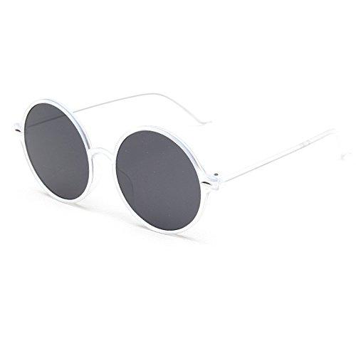 HUAYI Women's UV400 Large Frame Cool Sunshade Round Retro - Eyewear Sunshades