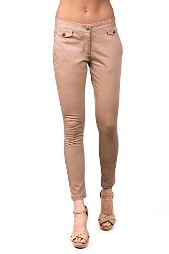 V&L - Pantalon, Mujer, Color Tostado, Talla 26