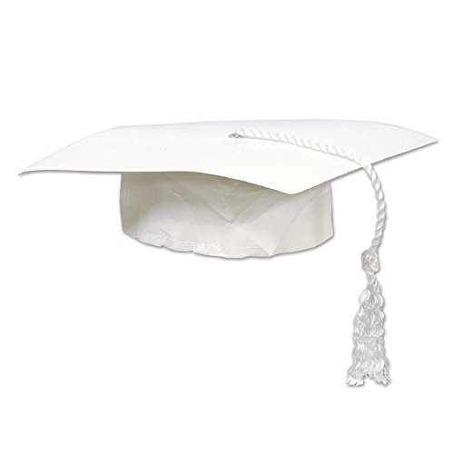 Club Pack of 48 Black Graduation Cap with Tassel Party Accessory 9.25''