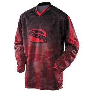 Msr Riding Gear - MSR Mens Renegade Camo Print Jersey 2014 Medium Black Red