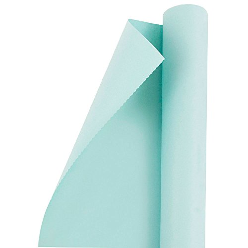 Ocean Blue Paper (JAM Paper® Solid Color Wrapping Paper - 25 Sq Ft - Matte Pool Blue - Matte Wrapping Paper Roll - Sold Individually)