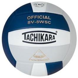 Tachikara Composite Volleyball - Sensi-Tec SV-5WSC, Colored Color: Navy/white/silver