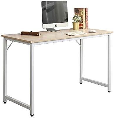 DlandHome Mesa de Ordenador 100x50cm Escritorio de Oficina Mesa de ...