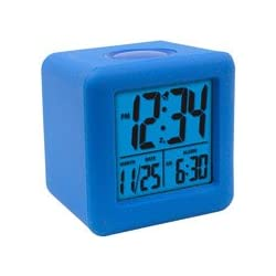 Equity 70918 Blue Soft Cube LCD Alarm Clock