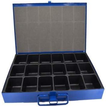 Caja organizadora con 18 compartimentos, de chapa: Amazon.es ...