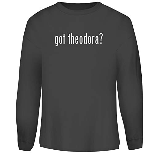 One Legging it Around got Theodora? - Men's Funny Soft Adult Crewneck Sweatshirt, Grey, Small]()