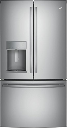 PYE22KSKSS 36 Energy Star Qualified CounterDepth French-door Refrigerator with 22.2 Cu. Ft. Capacity Full-width temperature-controlled drawer in Stainless steel (Stainless Ge Profile Refrigerator Steel)