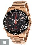 Bulova Men's Precisionist Chronograph Black Dial Rose-Tone Bracelet