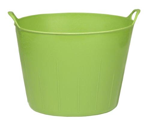 LITTLE GIANT Poly/Rubber Flex Tub, 11-Gallon, Lime (Flexible Plastic Basket)