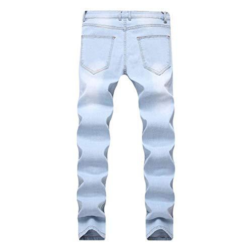 Distrutto Fit Biker Casual Look Used Uomo Abbigliamento Stonewashed Asphoto Da Slim Jeans Denim Pantaloni Strech IxzgwW