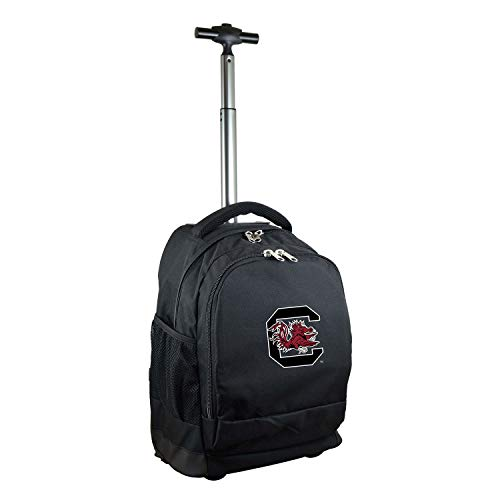 NCAA South Carolina Fighting Gamecocks Expedition Wheeled Backpack, 19-inches, Black