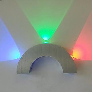 longless arco lampada da parete portato tre luci blu verde rosso Moderno in acrilico in alluminio 100~ 240V Input