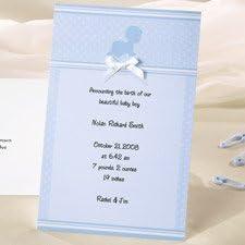 Wilton Crawling Baby Boy Birth Announcement Cards 50 Sets