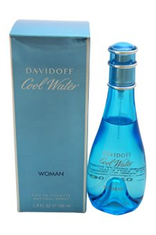 Davidoff Cool Water Eau De Toilette Spray  for Women, 3.4 Ounce