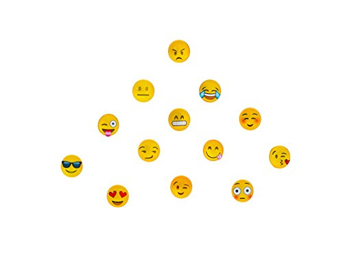 Emoji Refrigerator Magnet Party   Set Of 13 Pack Round Emojies Face For Silver Fridge Office Dry Erase Board Stainless Steel Door Freezer Whiteboard Cabinet Magnetic Great Fun For Adult Girl Boy Kid
