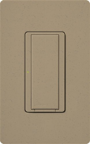 Lutron MRF2-6ANS-MS, Single Pole 6Amp Preset Switch Light Switch, Mocha Stone by Lutron