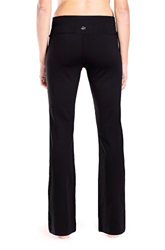 Yogipace 27''/28''/29''/30''/31''/32''/33''/35''/37'' Inseam,Petite/Regular/Tall, Women's Bootcut Yoga Pants Long Workout Pants, 27'', Black Size XL by Yogipace (Image #4)