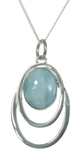 Classical Sterling Silver Pendant Larimar product image