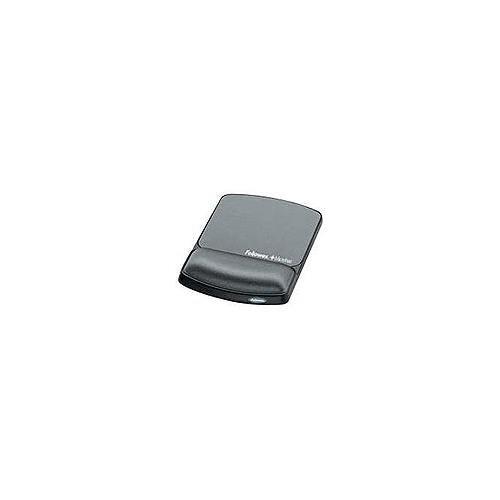 FELLOWES gel wristrest/mousepad w/microban graphite - Gel 9175101