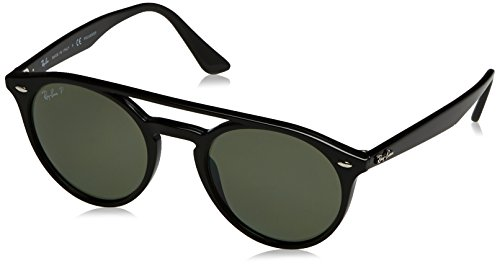 Ray-Ban Injected Unisex Polarized Round Sunglasses, Black, 51 mm by Ray-Ban