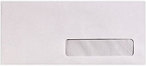 - 24lb Letters Bright White Letterhead 82624-500 Statements 500 Qty. | Perfect for Checks Invoices 4 1//8 x 9 1//2 #10 Right Side Window Envelopes