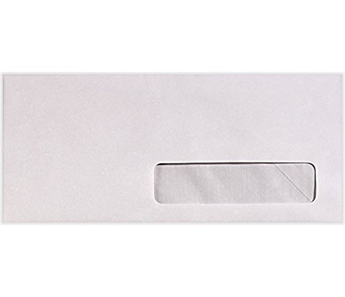#10 Right Side Window Envelopes (4 1/8 x 9 1/2) - 24lb. Bright White (50 Qty.) | Perfect for Checks, Invoices, Letterhead, Letters, Statements | 82624-50