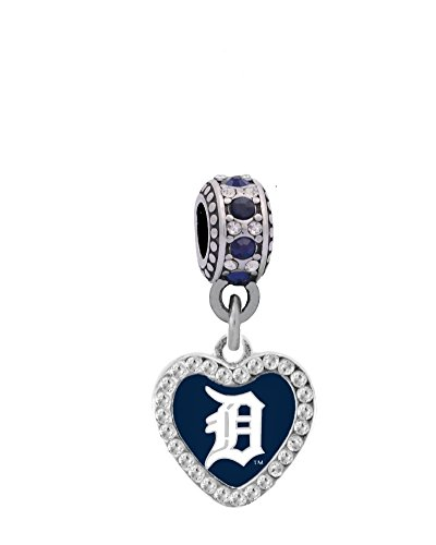 Final Touch Gifts Detroit Tigers Crystal Heart Charm