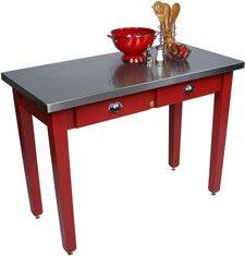 John Boos MIL Cucina Americana Milano Prep Table in Barn Red Size: 60x30x36 by John Boos