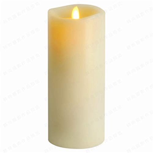 LED Candle Flameless Real Wax Moving Wick for Home Party Halloween Wedding Decor with Timer Control Vanilla Scented