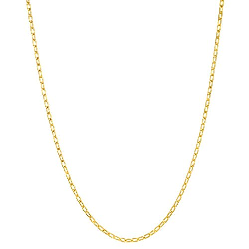 14 ct Gelb Gold Oval Links 3,6 mm Halskette – 51 cm