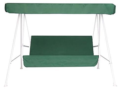 Neffy Shop Set Kissen Und Dach Ersatz Für Hollywoodschaukel 3 Sitzer, Grün,  150 Nice Look