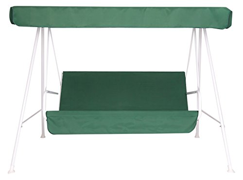 Ricambi Dondolo Da Giardino.Set Cuscini Tetto Di Ricambio Per Dondolo Verde 3 Posti Amazon
