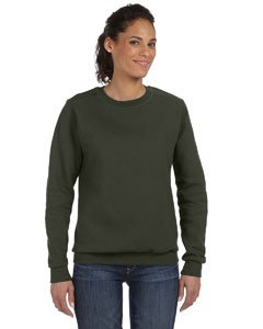 Anvil Women's Crew Neck Fleece, City Green, Large